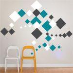 Quadratische Wandabziehbilder (d37) Größe der Blätter (in Zoll - jedes Blatt mit einem ... - party4birthday.com