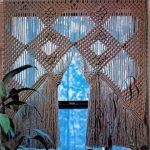 Macrame köksgardiner anpassad kort makrame vägg hängande Hollywood regency Ga...